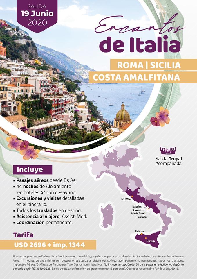 ENCANTOS DE ITALIA SALIDA 19JUN20 FYA